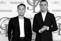 PHILLIP WITH THEO HUTCHCRAFT AT THE #CFDA #SWAROVSKI AWARD FOR #MENSWEAR 2012 EVENT