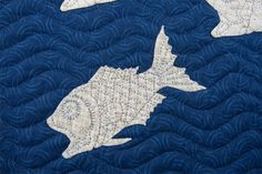 Detail photo showing beautiful hand quilting of the Escher quilt by Ineke Poort (Netherlands)