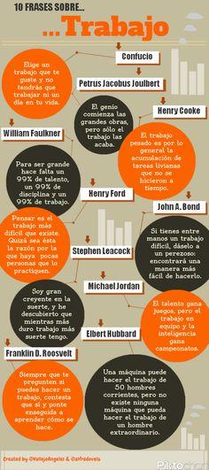 10 frases célebres sobre trabajo #infografia #infographic #citas #quotes