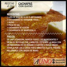 Una receta venezolana para disfrutar de los ricos sabores de nuestra tierra. #Receta #Recetas #RecetasAUno #Cachapa #Venezuela
