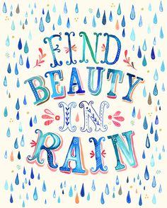 Find Beauty in Rain by thewheatfield on Etsy, $15.00