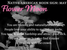 Native American Moon Sign: May Flower Moon