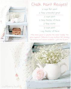 Chalk Paint DIY - 3 best recipes...