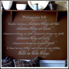 Phillippians Bible Verse Wall Decal King James