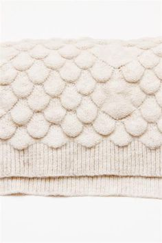 MM6 Scalloped Knit Scarf- Off White