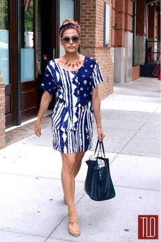 Summer dress perfection, courtesy of Eva Mendes.