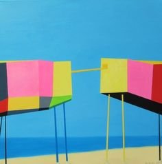 """Saatchi Online Artist Leva Baklane; Painting, """"""""The Bridge"""""""" #art"""