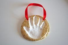 clay handprint, handprint ornament, keepsake crafts, bake soda, clay ornaments, handprint keepsak, soda clay, christmas ornaments, craft ideas