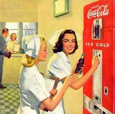 vintag coca, coke, cola ad, art, vintag advertis, poster, cocacola, nurs stuff, vintage coca cola