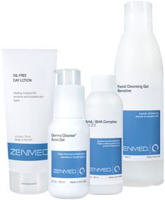 Acne Therapy for Combination Skin - Ideal for adult acne sufferers. Combines a gentle cleanser, exfoliating toner, potent dual-acid Acne treatment and an oil controlling moisturizer.
