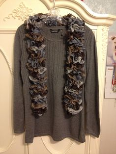 ruffle scarf, crochet ruffl, ruffl scarv, ruffl scarf