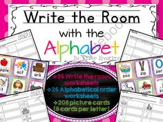 Write the Room: Alphabet from Kinder Kreations on TeachersNotebook.com -  (105 pages)  - Write the Room from A to Z