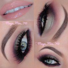 eye makeup, purple, green, colors, lip gloss, fall looks, pink, fall makeup, makeup looks