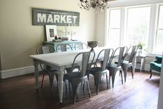 dining rooms, dine room, dining room tables, paint sign, dining tables