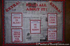 Church bulletin board decorating - lots of ideas
