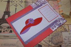 Red Hat Ladies handmade Thank You card by AnLieDesigns on Etsy, $2.00