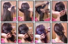 Hair |  How To.  A Rolled Side Twist
