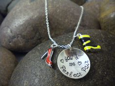 Fire Wife necklace - perfect bc I wore red heels in our wedding! I'd want our initials and wedding date on it