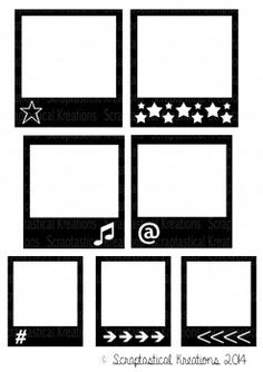 Polaroid cutting file