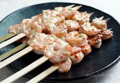 Bangin' Grilled Shrimp Skewers via Skinnytaste