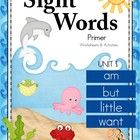 "This is a comprehensive WORKSHEET packet for teaching Primer Sight Words. I have chosen an ""Under the Sea"" theme for the Primer units, which I hope..."