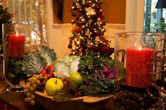 Veggy and fruit #Christmas #centerpiece
