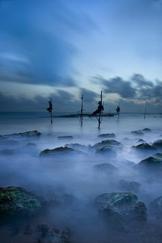 The Fishermen Blue,Koggala, Sri Lanka, photo by HockHow SiewPeng.