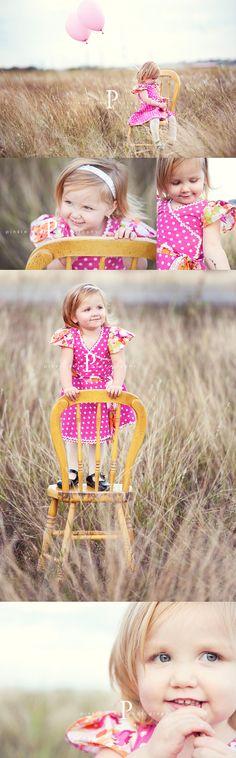 little girls, toddler photos, toddler pictures, children picture ideas, first birthday photos, chairs as photography props, toddler photography, photo shoots, children photography