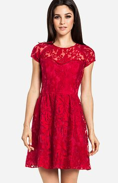 Dolce Vita Red Lace Dress