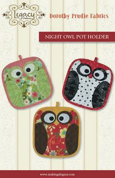 FALL OWL Potholders Fun Fast and Easy pattern for Beginners or to sell at Craft Fairs