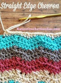 Katie's Crochet Goodies and Crafts: How to add straight edges to chevron