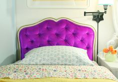 DIY diamond tufted headboard... the project looks intense, but you can't argue with the results.
