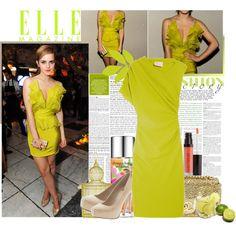 Emma Watson in Chartreuse