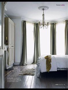 pooled drapes
