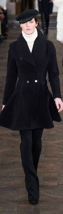 #Ralph Lauren F/W 2013 RTW #NYFWlv love the coat, the hat, not so much