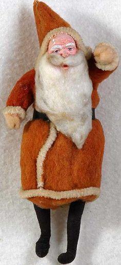 Antique Cotton Batting Santa