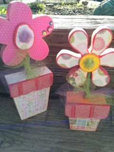 Summer Decor  Potted Flowers by definebliss on Etsy, $25.00