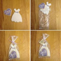 Sugar cookie bridal shower favours