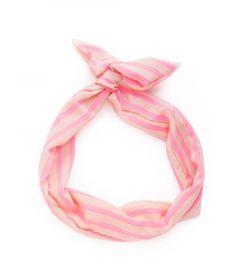 ban.do twist scarf  in beige + neon pink!