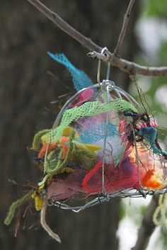 for the birds/  'cause birds might want pretty nests-