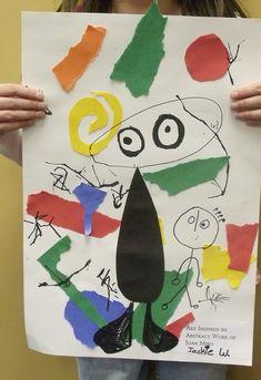 Joan Miro inspired art lesson- K