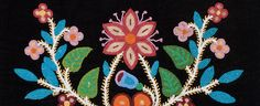 Floral Journey exhibit at the Autry Museum, Ojibwe apron
