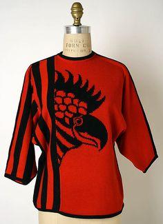 Kansai Yamamoto sweater design at Metropolitan Museum of Art