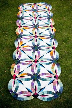 Bali Bed Runner~Quiltworx.com, made by Catherine Wilson