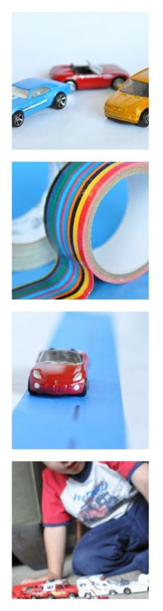 Cars and trucks pretend play with lots of ideas for creativity and learning. #kids