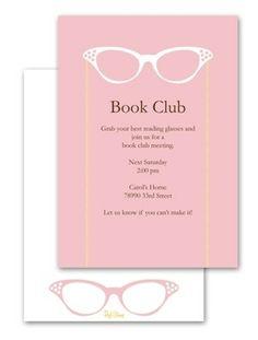 Book Club Party Invite for #EccoDomaniCelebration