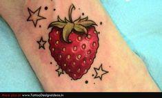 strawberry tattoos   Strawberry Tattoos fruit