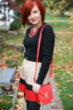 Thrift and Shout blog in skirt and purse from #Forever21. see more at thriftandshout.blogspot.com
