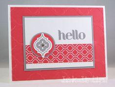 Hello Strawberry Slate Card Everything looks good with Smoky Slate