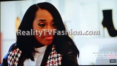 "Yandy Smith's Houndstooth Triple Jacket & Skirt on ""Love & Hip Hop New York"""